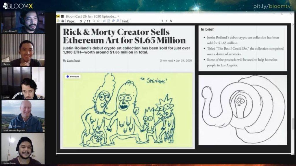 Rick and MortyJustin Roland Crypto Art
