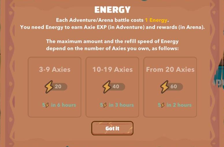 Axie Infinity Energy
